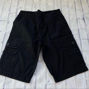 NWT men's black Calvin Klein cargo shorts sz 30